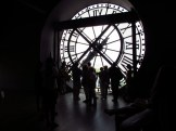 At the clockface inside Musee d'Orsay, Paris